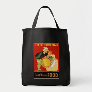 Tote Bag:  Lick the Platter Clean