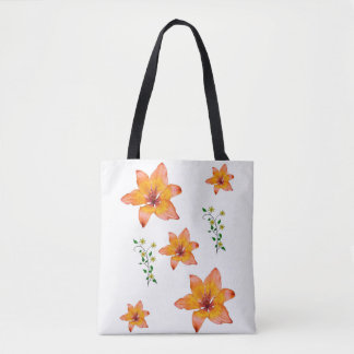 Tote bag lilies