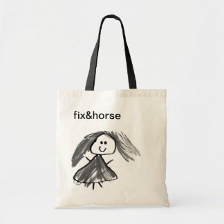 tote bag, little girl drawing, fix&horse