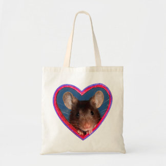 Tote Bag: Mouse in Heart v2