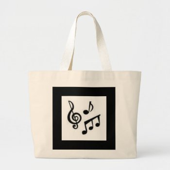 Tote Bag  Musical Notes  Black  And White by creativeconceptss at Zazzle