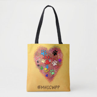 Tote Bag- My Heart is Covered with Paw Paw Prints