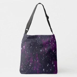 tote bag purple black night sky stars