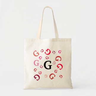 Tote Bag - Red Jumbled Letters