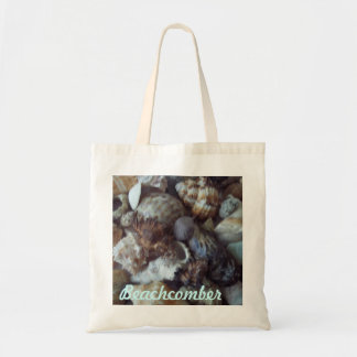 Tote bag (reusable budget size) with shell photo.