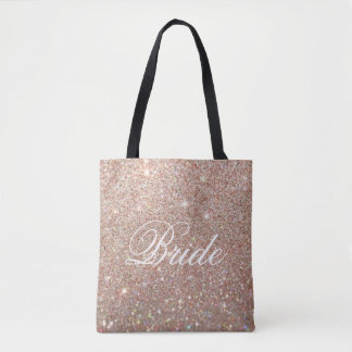 Tote Bag - Rose Gold Glitter Fab Bride