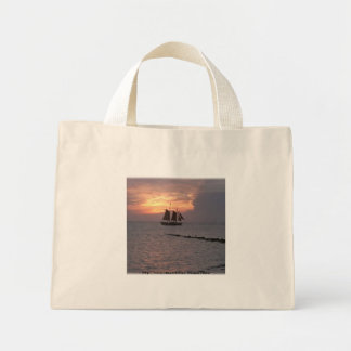 Tote bag~ Ship on the ocean Mini Tote Bag