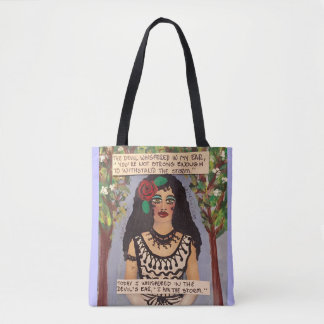 Tote bag-The devil whispered in my ear