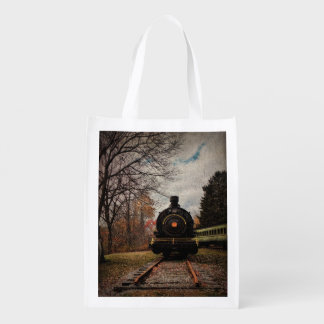 Tote Bag-Tramping the Rails Grocery Bags