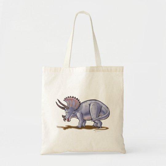 Tote Bag Triceratops Cartoon Dinosaur