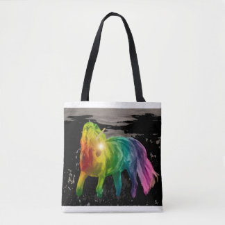 Tote Bag - Unicorn Filly in Moonlight