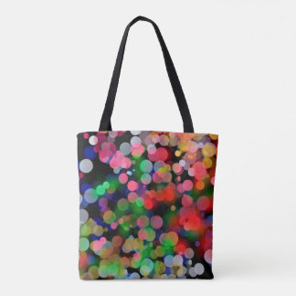 Tote Bag w/ Colorful City Lights