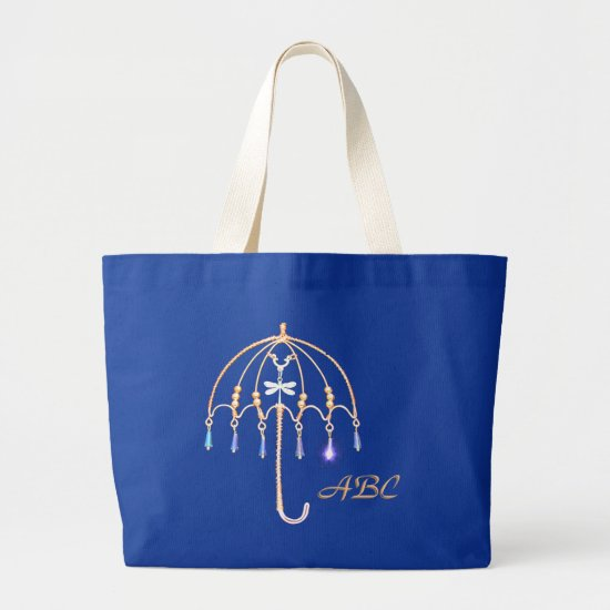 Tote Bag - Wire Umbrella and Initials