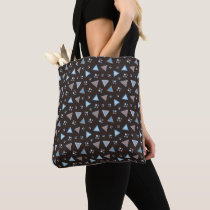 Tote bag with artistic triangle abstract design