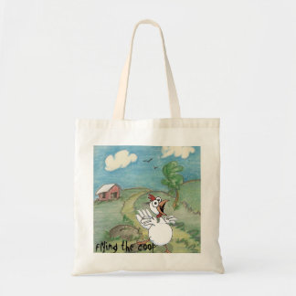 tote bag with chicken design