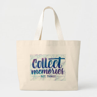 """tote bag with """"Collect Memories"""" saying"""