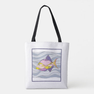 Tote Bag with Fish Design