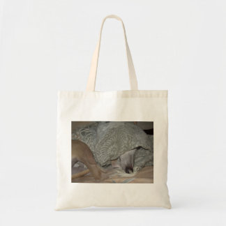 """Tote bag with hidden whippet """"Jimmy"""" design"""