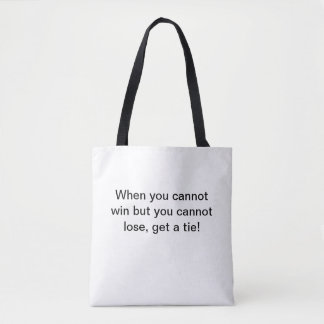 Tote bag with joke