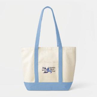 Tote bag with light blue trim