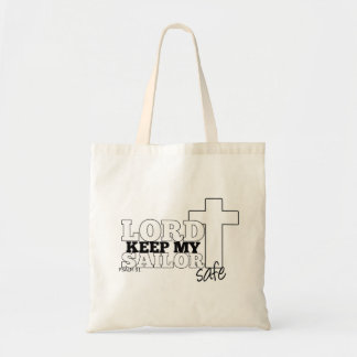 Tote bag with 'Lord Keep my Sailor safe' design