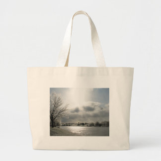 tote bag with photo of icy winter scene
