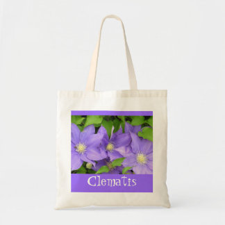 """TOTE BAG WITH PURPLE CLEMATIS"""