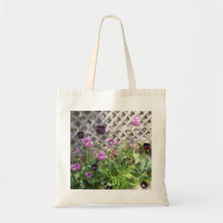 Tote Bag with Purple Tulips!