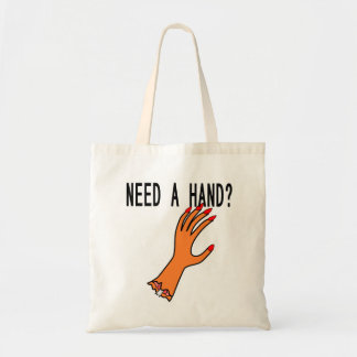 Tote bag with scary hand