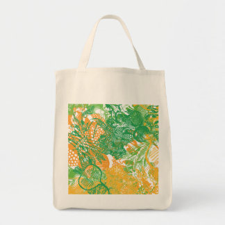 Tote Bag with the HandDrawn Vegan Food Print On