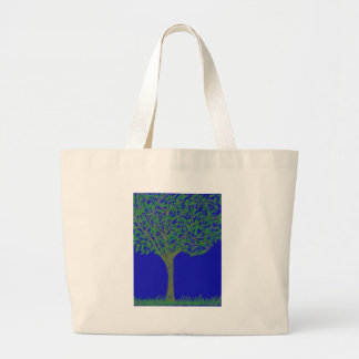 Tote Bag with Tree and Sky Design
