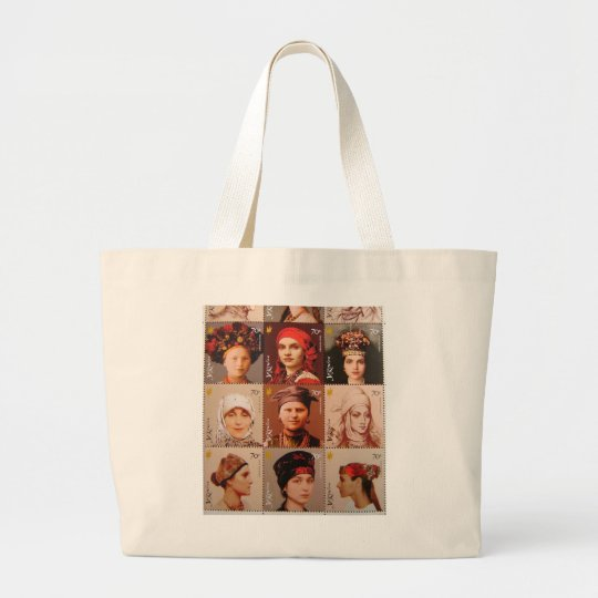 Tote Bag with Ukrainian Stamps