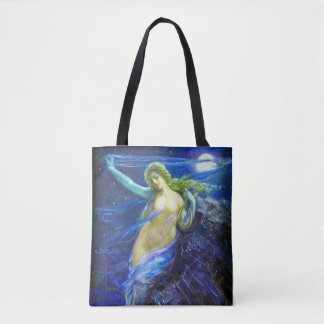Tote Bag with Vintage Oil Painting