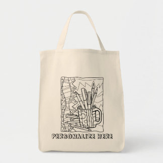 TOTE BAG You COLOR - A CUP FULL OF COLORING Design