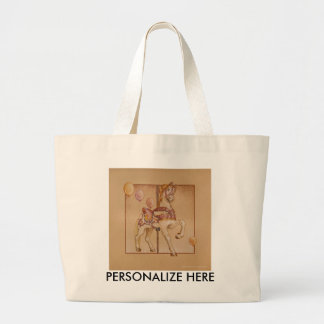 Tote Bags - Carousel Lion SQ