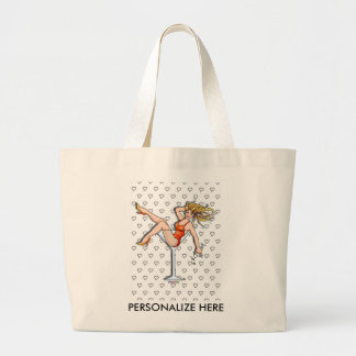 Tote Bags - Girl in a Martini Glass, Olivia