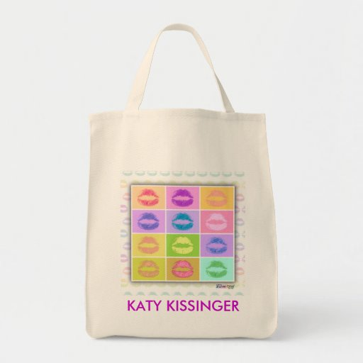 Tote Bags - Pop Art Kiss