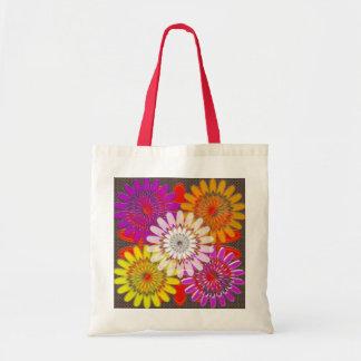 TOTE BAGS SMALL DIY flowers Treasure Colorful