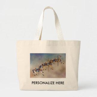 Tote Bags - Three Carousel Horses