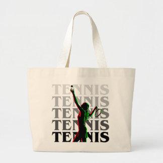 Tote Bags Women's Tennis 1 Black on Light