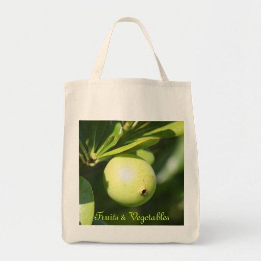 Tote bahamés del ultramarinos de la fruta bolsa tela para la compra