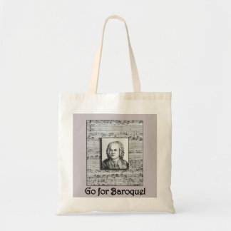 Tote barroco de la música de Bach Bolsa Tela Barata