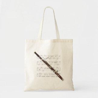 Tote - Bassoon y partitura Bolsa Tela Barata