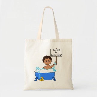 tote bath time boy with duck cartoon