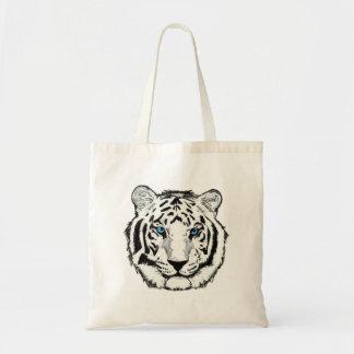 Tote blanco del tigre bolsa tela barata