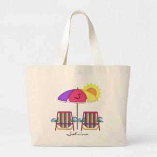 Tote brillante de la playa de Sunbrella Bolsa Tela Grande