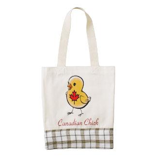 Tote canadiense del CORAZÓN del polluelo Bolsa Tote Zazzle HEART