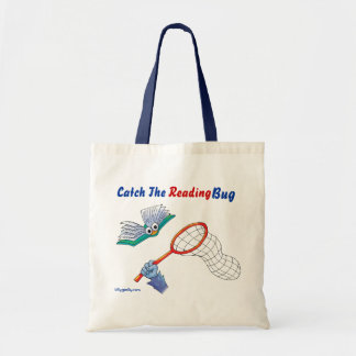 Tote_Catch The Reading Bug Budget Tote Bag