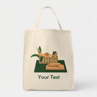 Tote cocido del ultramarinos de la cesta del pan bolsa tela para la compra