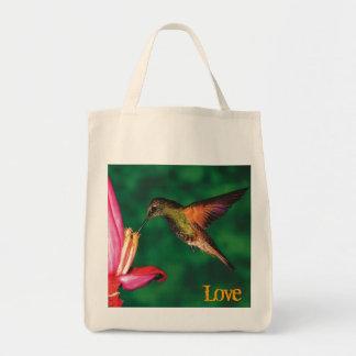 """Tote """"colibrí del ultramarinos del amor """" bolsa de mano"""